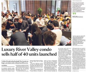 Luxury River Valley condo sells half of 40 units launched