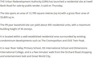 URA launches tender for Irwell Bank Road residential site-2